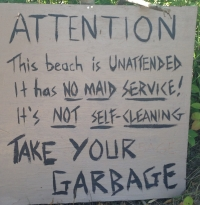 Please keep Beach Clean